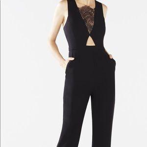 37d0f4d0d600 NWT BCBG Hanah Scroll Lace Dress BCBG Josef Lace Cutout Wide-Leg Jumpsuit.